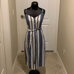 Lucky Brand striped Chambray button down dress